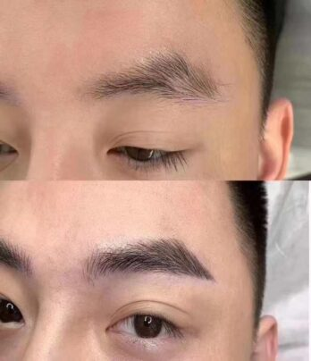 Line Eyebrow Embroidery For Men